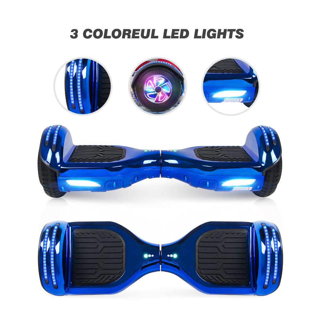 6.5/'/' Hoverboard Bluetooth Self Balancing Scooter Flash Wheels UK Charger Blue