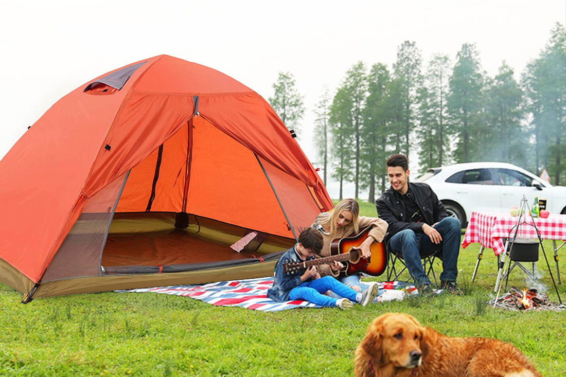 Details about 3 Person Portable Folding Tent Automatic Pop Up Tent  Waterproof Hiking Tent