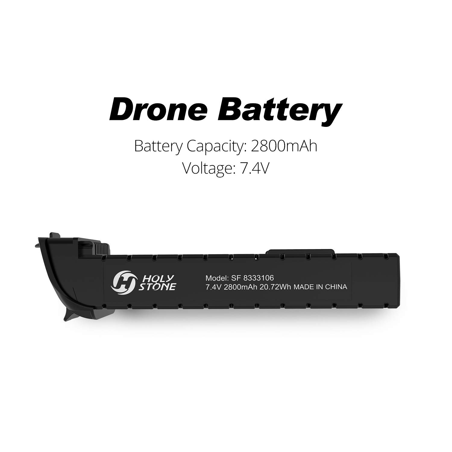 Holy Stone 1 PC 2800mAh 7.4V Modular Rechargeable Li-po Battery for RC Drone HS700 White