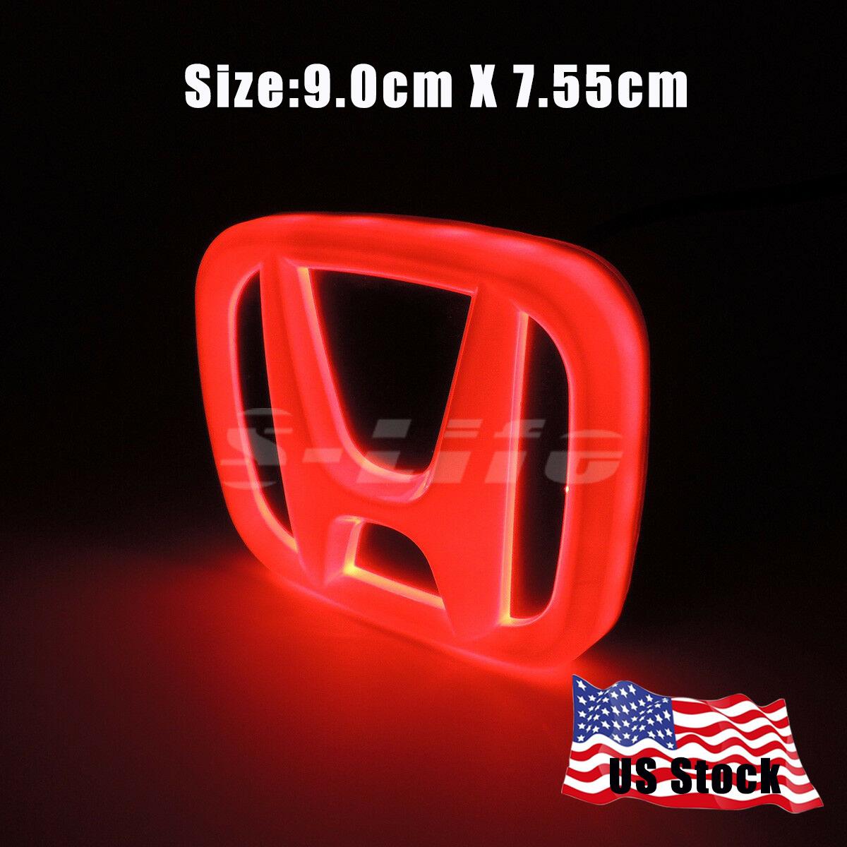 Modify LED Car Tail Logo Badge Emblem Lights Bulb Fits Honda Jazz Odyssey CR-V