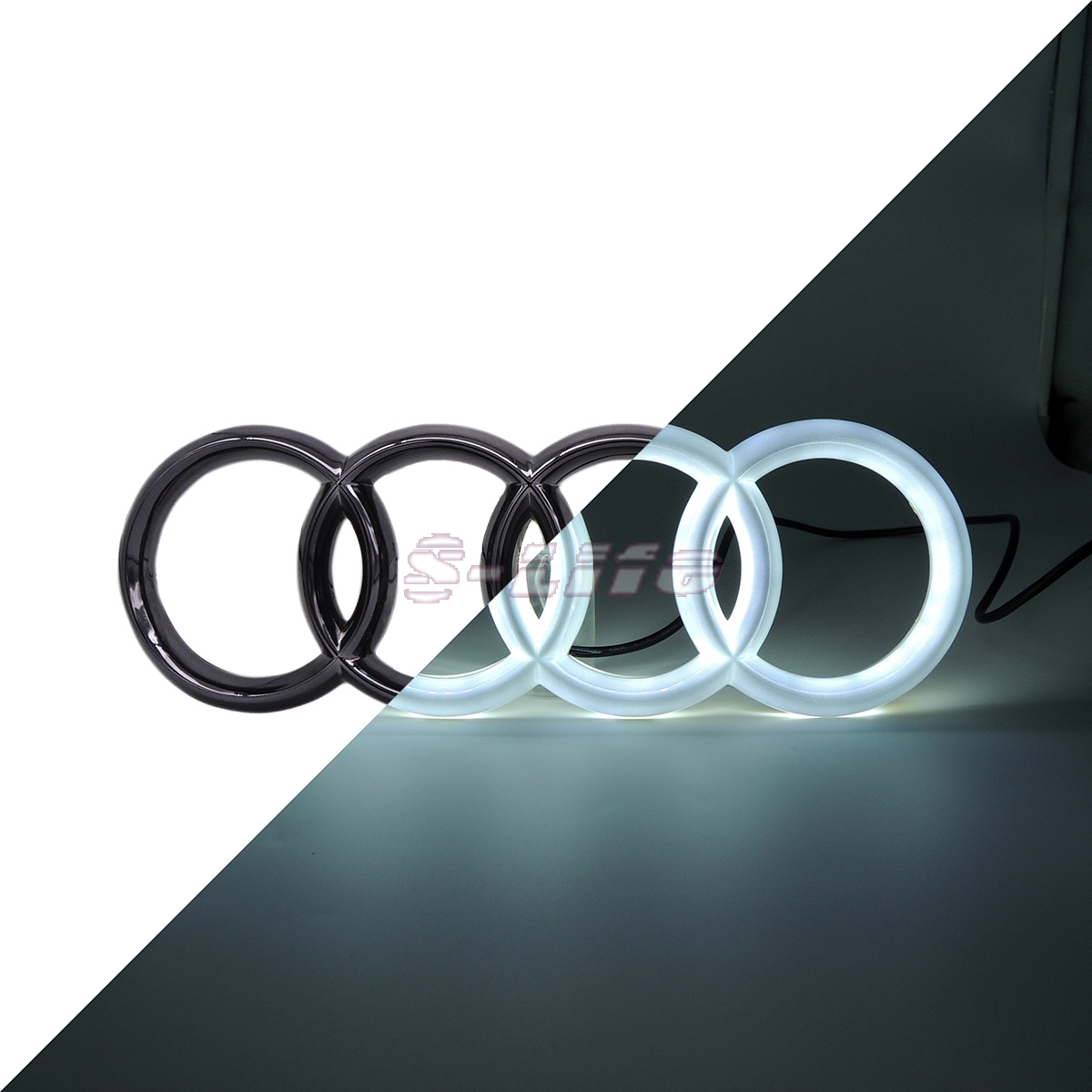 Motors Front Led Grille BlLED Logo Emblem Light Bulb For Audi A1 A3 A4 A5 RS3