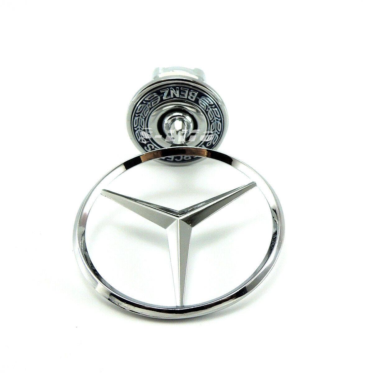 HQMGLASSES Mercedes-Benz 3D three-dimensional logo W210 car logo W221 front hood decoration logo Mercedes-Benz C E S-Class Chrome Eagle badge,01