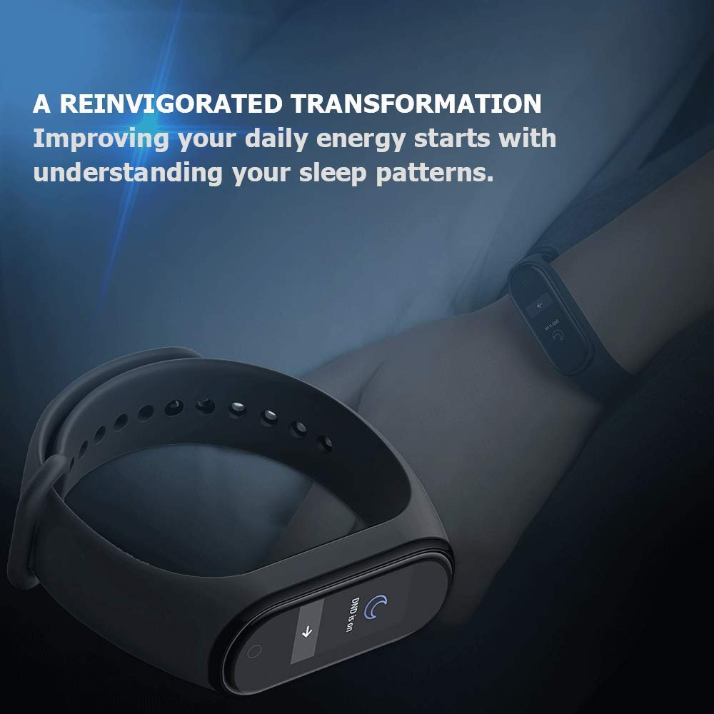 Xiaomi-Mi-Smart-Band-4-Bracelet-pour-la-detection-d-039-activite-AMOLED-2-41-Noir miniature 6