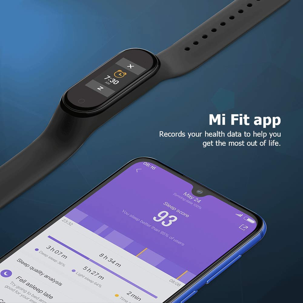 Xiaomi-Mi-Smart-Band-4-Bracelet-pour-la-detection-d-039-activite-AMOLED-2-41-Noir miniature 7