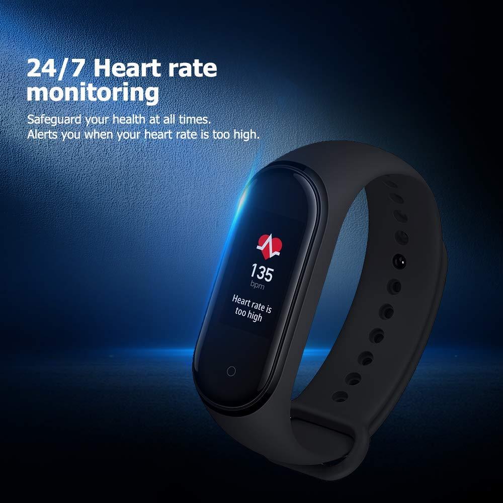 Xiaomi-Mi-Smart-Band-4-Bracelet-pour-la-detection-d-039-activite-AMOLED-2-41-Noir miniature 4