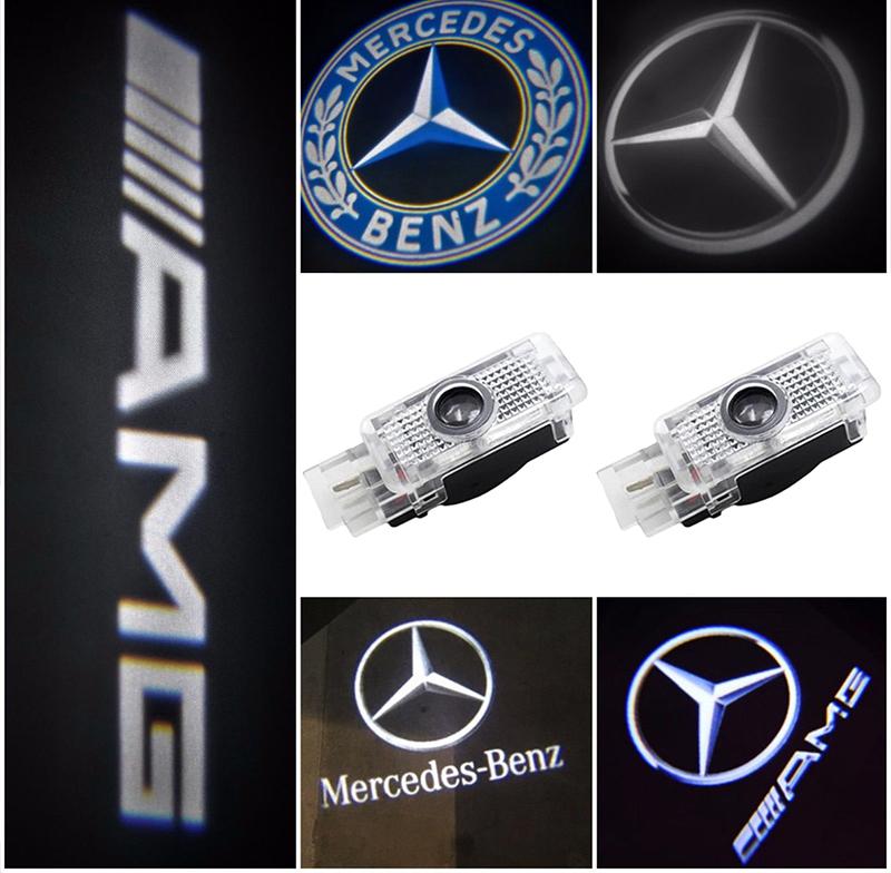 2 Stück For Jaguar Logo Wireless Auto Licht LED Tür Car Willkommen Projector