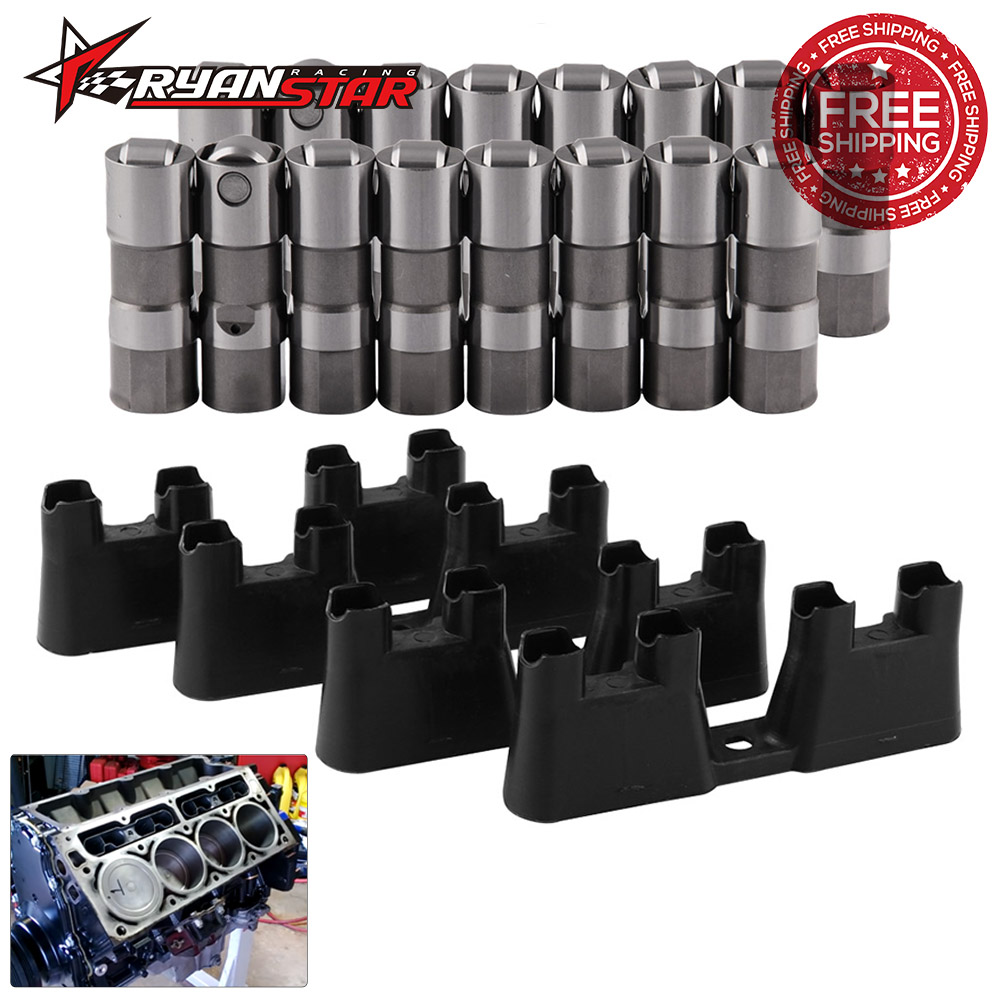 LS7 Hydraulic Roller Lifters /& 4 Guides Trays 12499225 HL124 Fit For Chevrolet GMC Buick LS7 LS2 16 GM