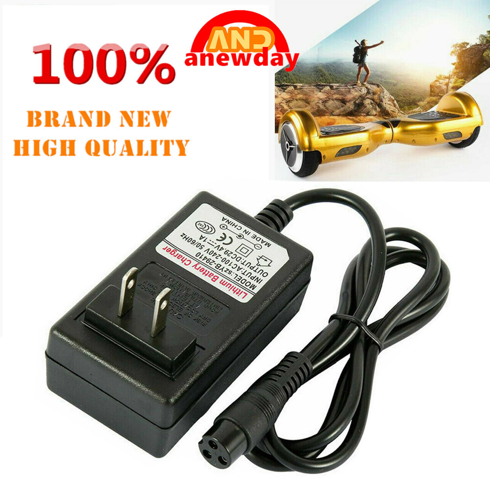 Balancing Scooter Hoverboard Adapter Charger Power 24 Volt 9mm 3.3 FT Power Cord