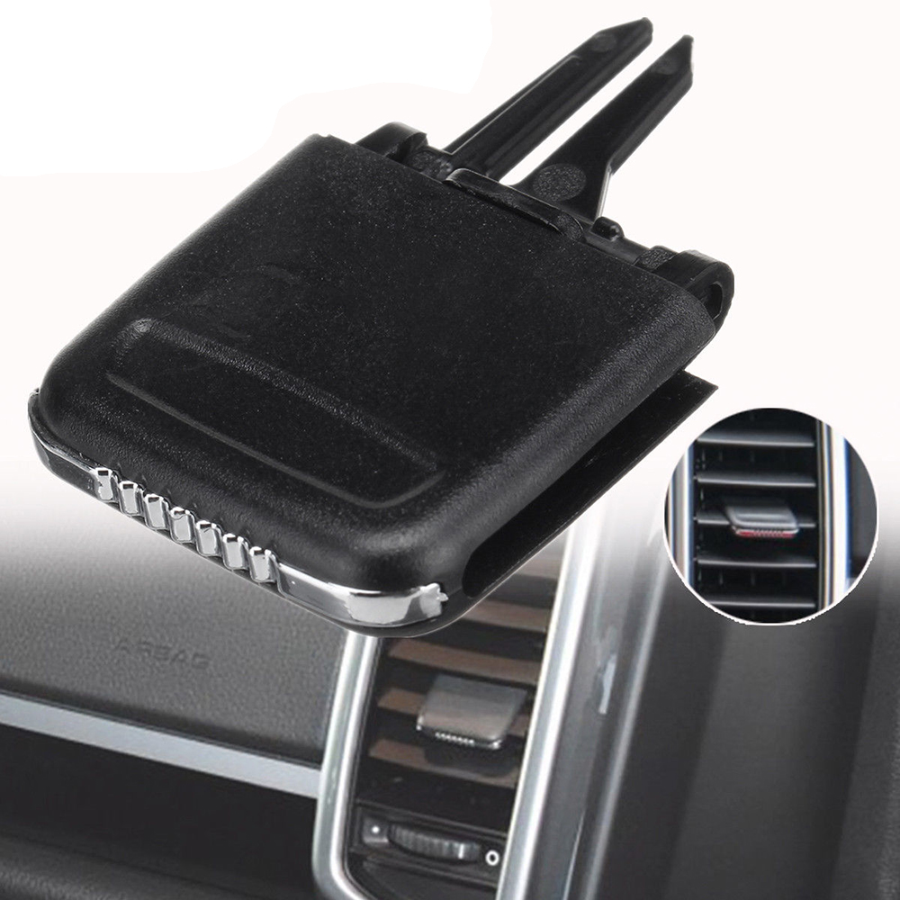 Black Grebest Air Vent Outlet Tab Clip Interior Decoration Tab Clip Repair Air Condition Vent Outlet Tab Clip Accessory Fit for Porsche Cayenne