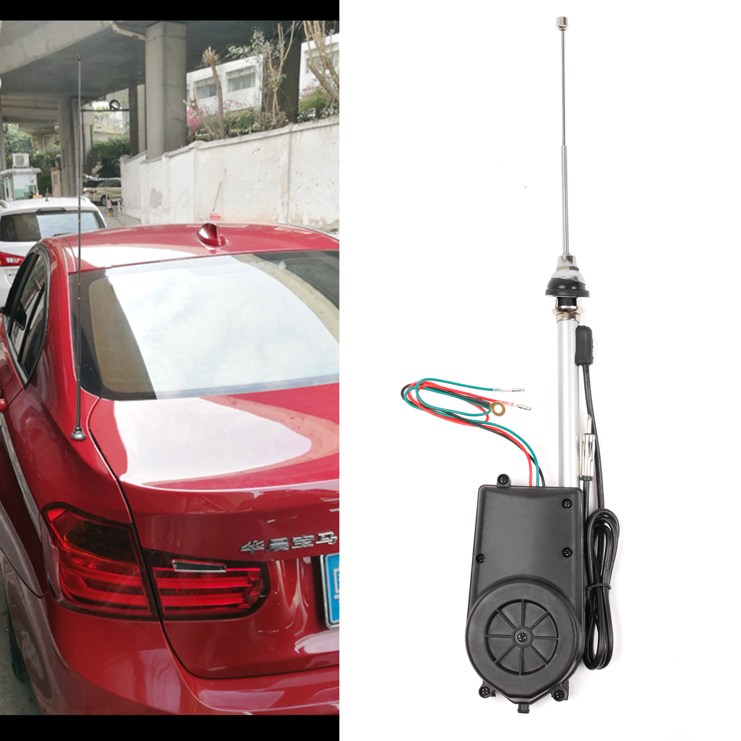Ford Chevy Fully Automatic AM//FM Power Antenna Compact for 28,29,30,31,32