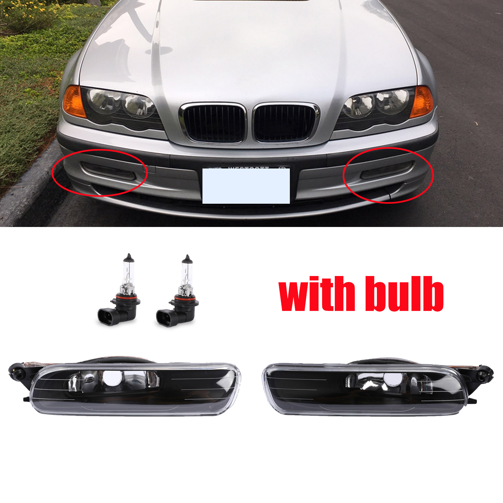 Front Side Marker Repeater Light Lamp w//Light bulb a Pair fit 2006 BMW 325i 323i