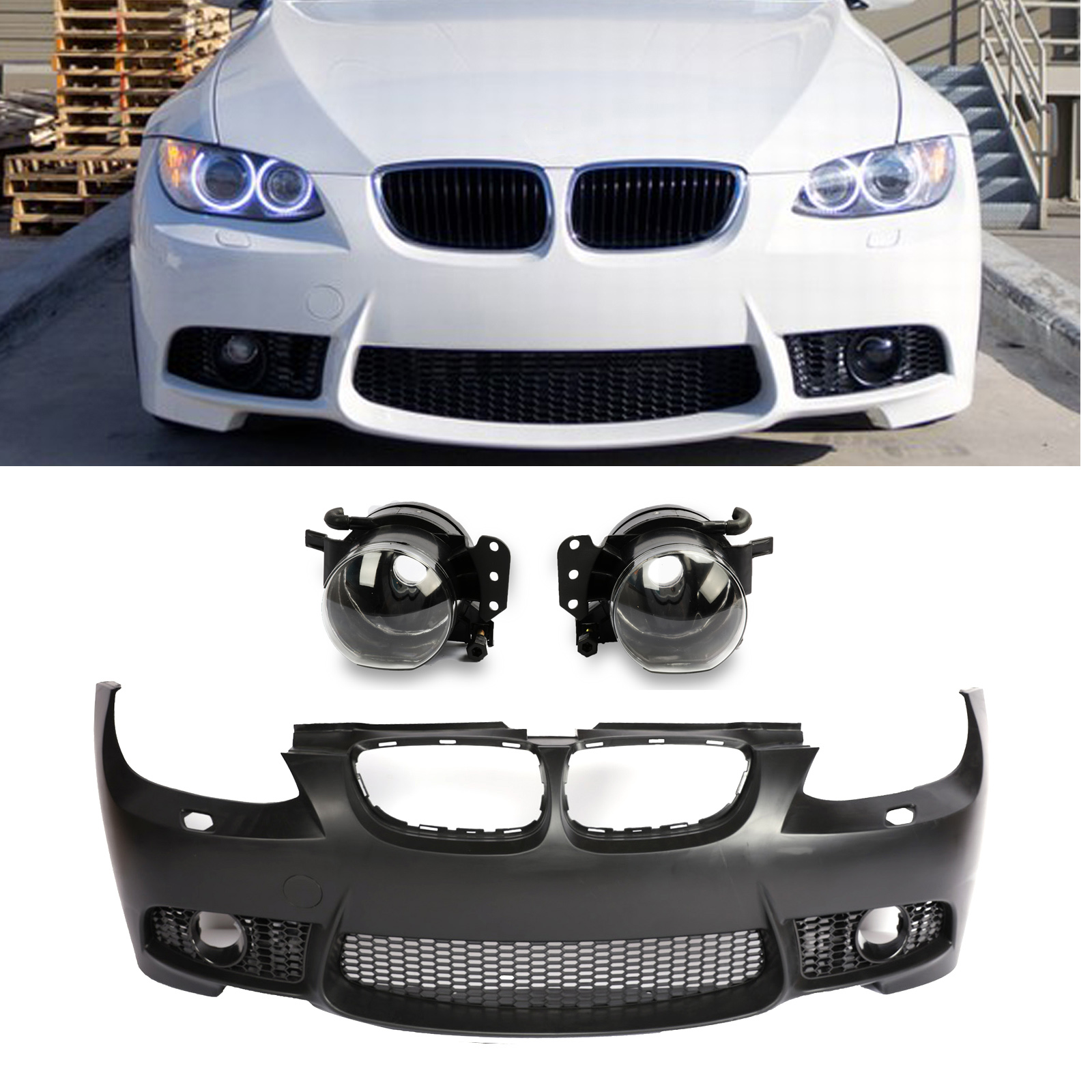 M3 Style Front Bumper Cover For Bmw E92 E93 328i 335i Coupe Convertible 07 10 Ebay