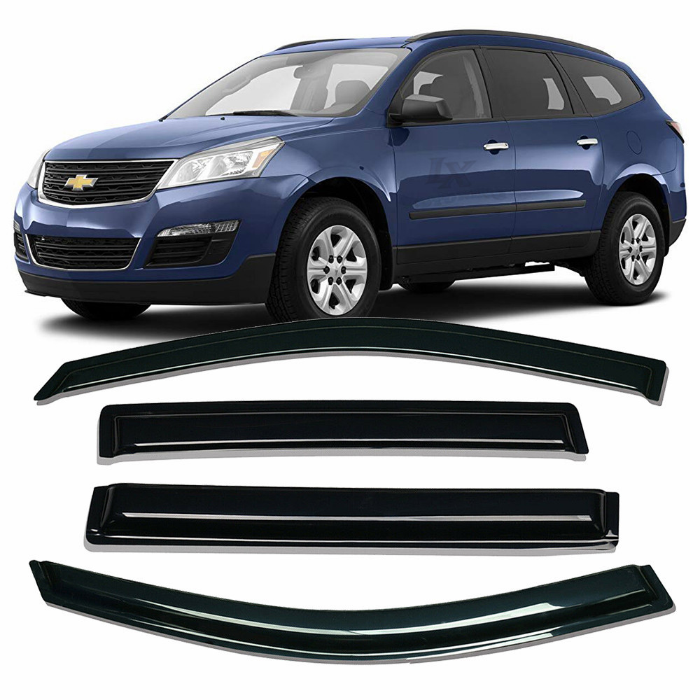 4-Piece Set for 2009-2017 Chevrolet Traverse Auto Vent Shade 94161 Original Vent Visor Side Window Deflector Dark Smoke
