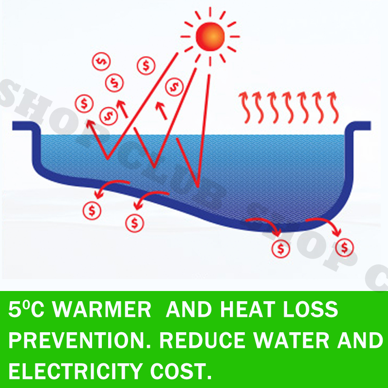 Solar Swimming Pool Cover 500 Micron Outdoor Bubble Blanket 5 SIZES 5 Years WRTY