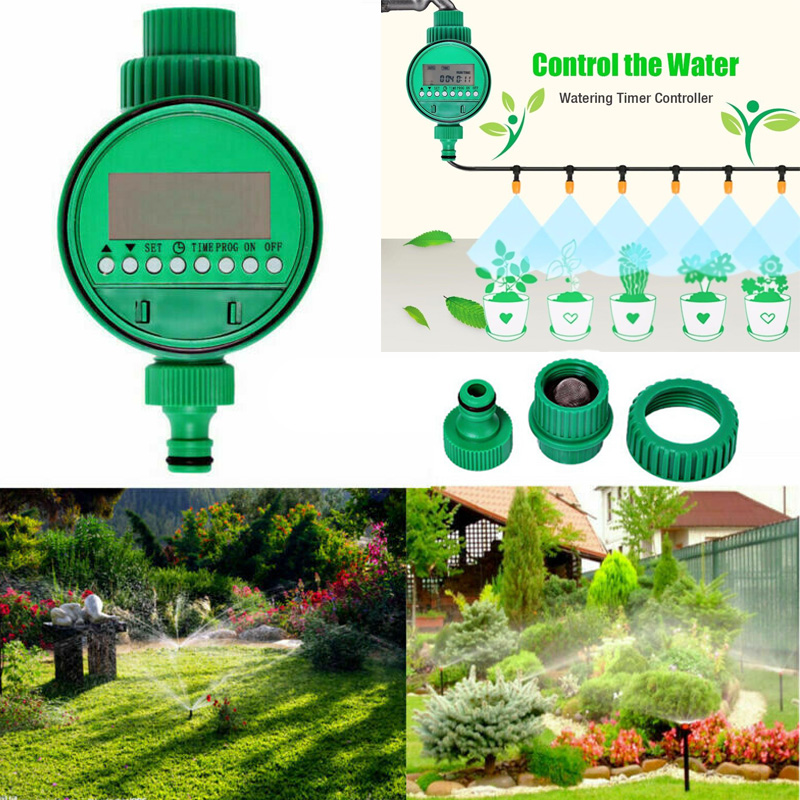 Water Timer Garden Irrigation Controller Automatic Sprinkler System Hose Digital