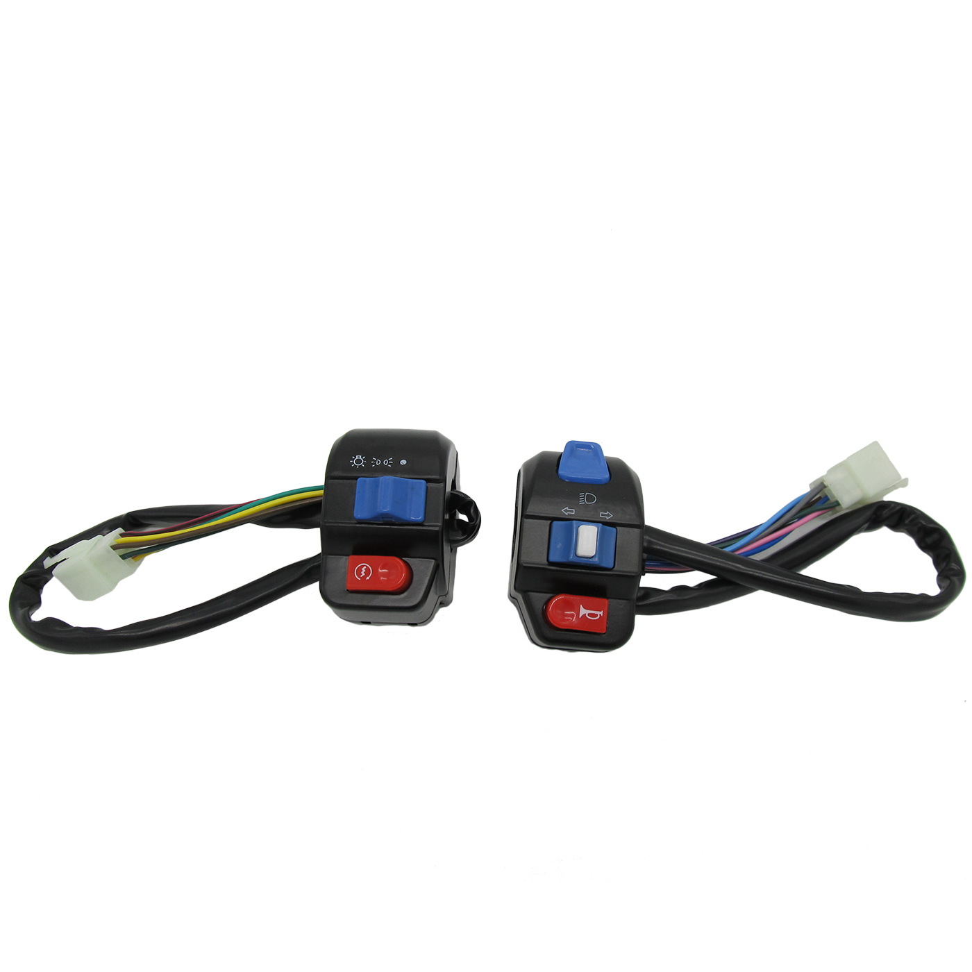 PAIR LEFT/&RIGHT HANDLE SWITCH CONTROL KIT FOR GY6 MOPED SCOOTER 50CC-150CC NEW