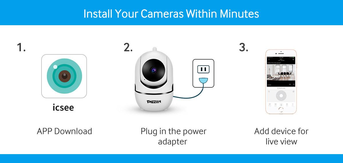 1080P HD IP Camera WiFi IR Night Smart Home Wireless Security Baby Monitor CCTV