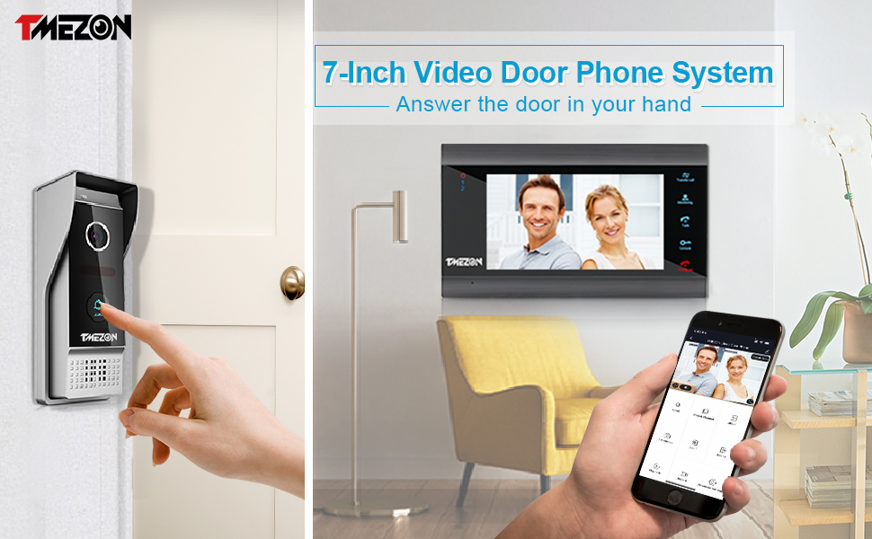 Wireless WiFi Smart Video Doorbell Wired Door Phone Camera Home Intercom System