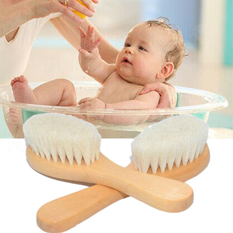 2PCS Portable Soft Newborn Baby Hair Brush Comb Hairbrush He