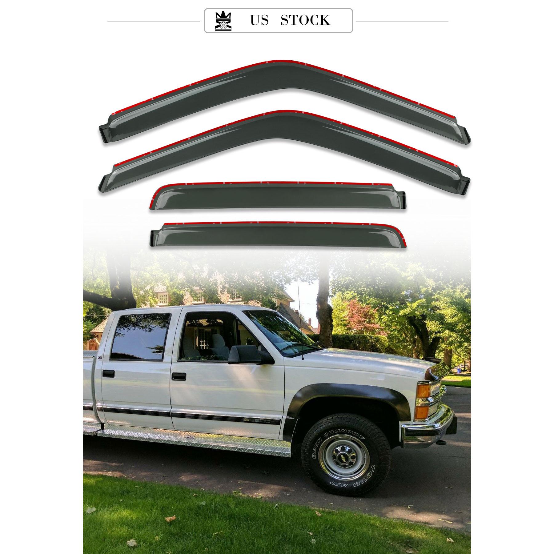 For 92-00 Chevy//GMC C//K C10 Vent Shade Guard Window Visors Deflector Smoke 4PC