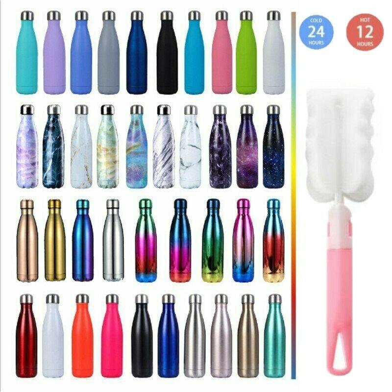 0.35-1l Edelstahl Trinkflasche Isolierflasche Wasserflasche Thermosflasche Sport