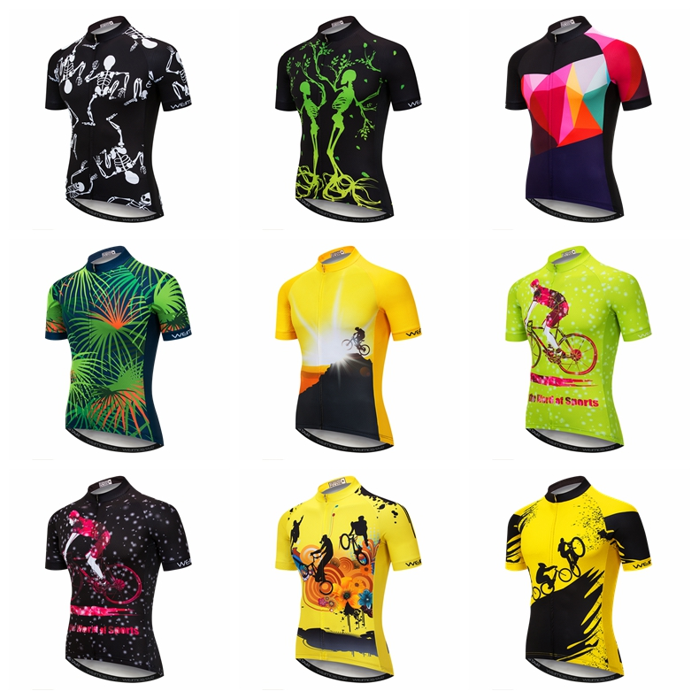 Weimostar Cycling Jersey T-Shirt Men/'s BIke Clothing Short Sleeve Tops S-3XL