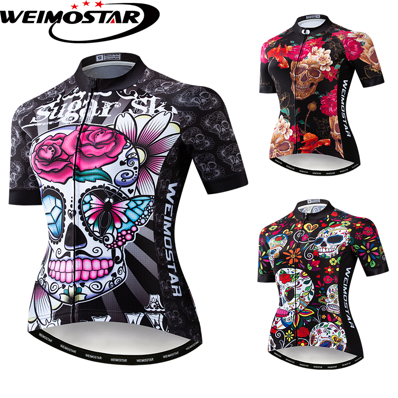Skull Style Men/'s Cycling Jersey Bike Short Sleeve Clothing Shirt Top S-3XL