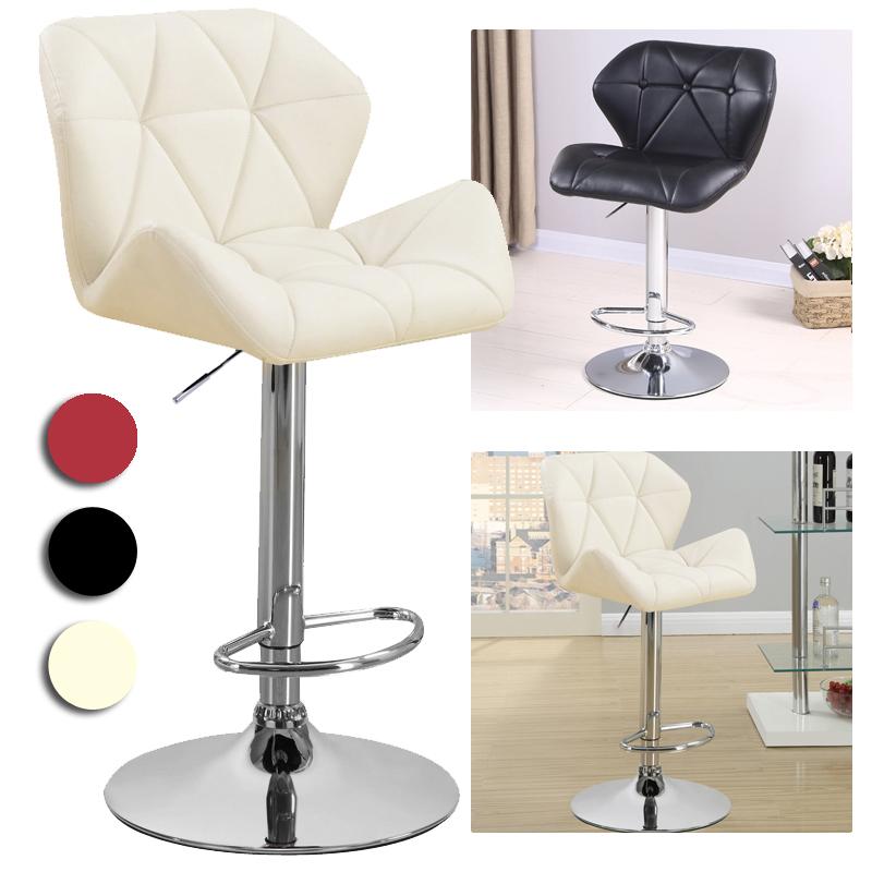 2x Chaise Luxueux Tabourets de bar Faux en cuir Chaises de Bar Bureau tabouret