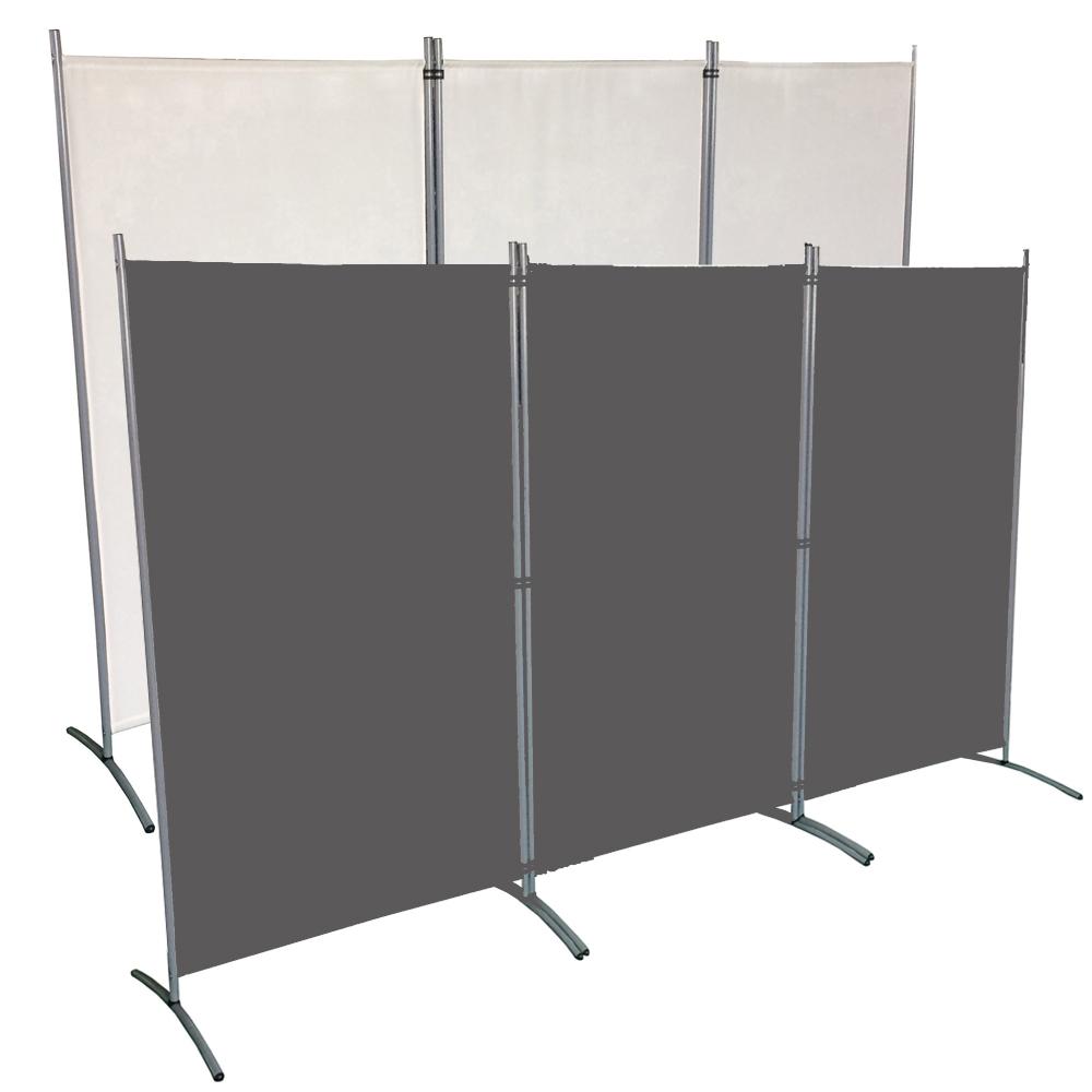 Spanische Wand Raumteiler Paravent Weiß Sichtschutz Stellwand Trennwand 260 cm