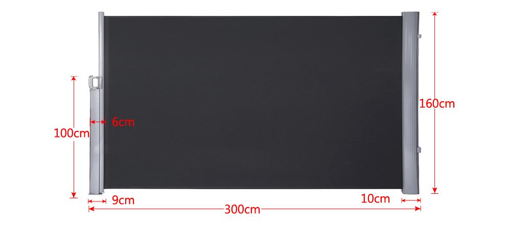Seitenmarkise Windschutz Markise Wandmarkise Sonnenschutz Sichtschutz Außen Ori