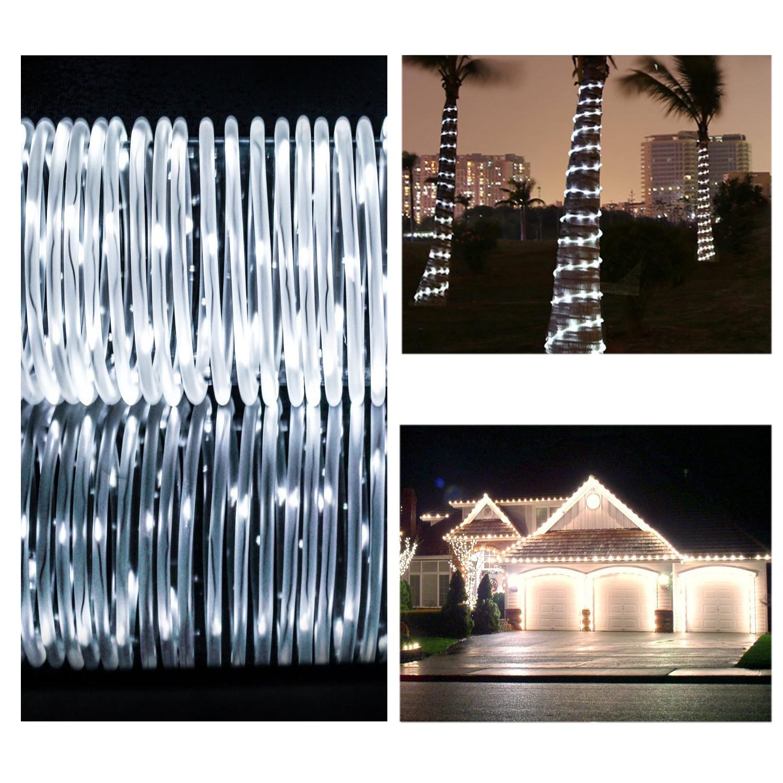 10m solar lichtschlauch lichterschlauch deko beleuchtung au en lichterkette ebay. Black Bedroom Furniture Sets. Home Design Ideas