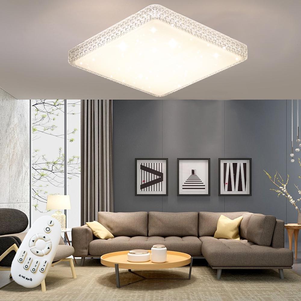 48W Dimmbar LED Kristall Deckenleuchte Deckenlampe