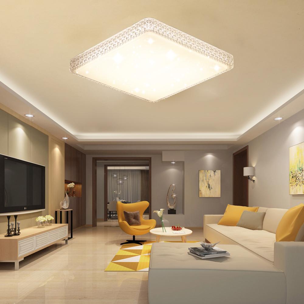 Dimmbar 48w led kristall deckenleuchte deckenlampe wandlampe wohnzimmer licht ebay - Wohnzimmer licht ...