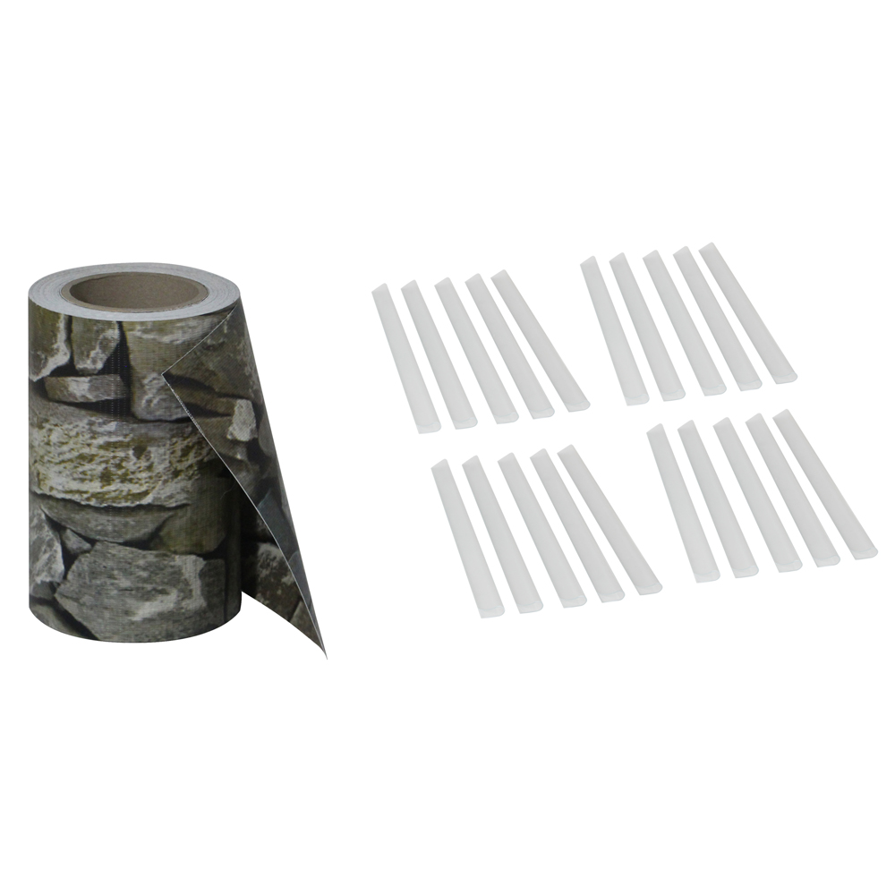 35m Pvc Sichtschutz Sichtschutzfolie Streifen Doppelstabmatten Zaun