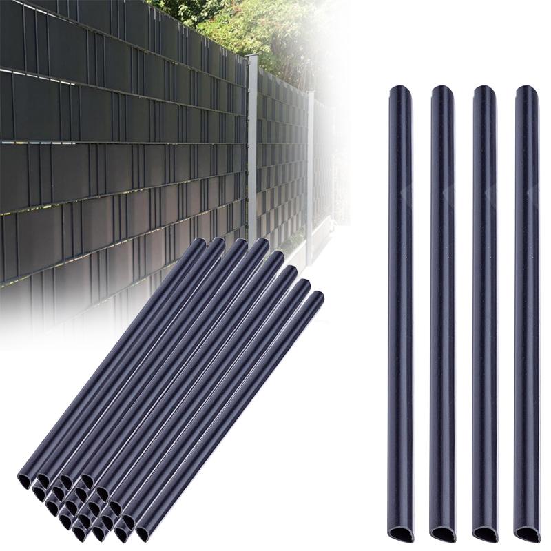 Befestigungsclips Klemmschienen für PVC Sichtschutzstreifen Zaunblende Zaunfolie