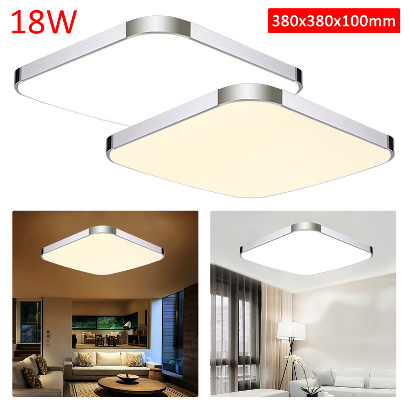 neu led deckenlampe 18w modern deckenleuchte warmwei wandlampe wohnzimmer panel ebay. Black Bedroom Furniture Sets. Home Design Ideas
