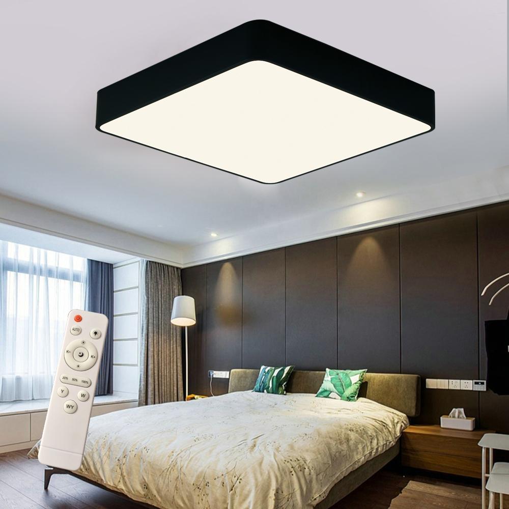 led dimmbar deckenlampe deckenleuchte wohnzimmer flurlampe mit fernbedienung ebay. Black Bedroom Furniture Sets. Home Design Ideas
