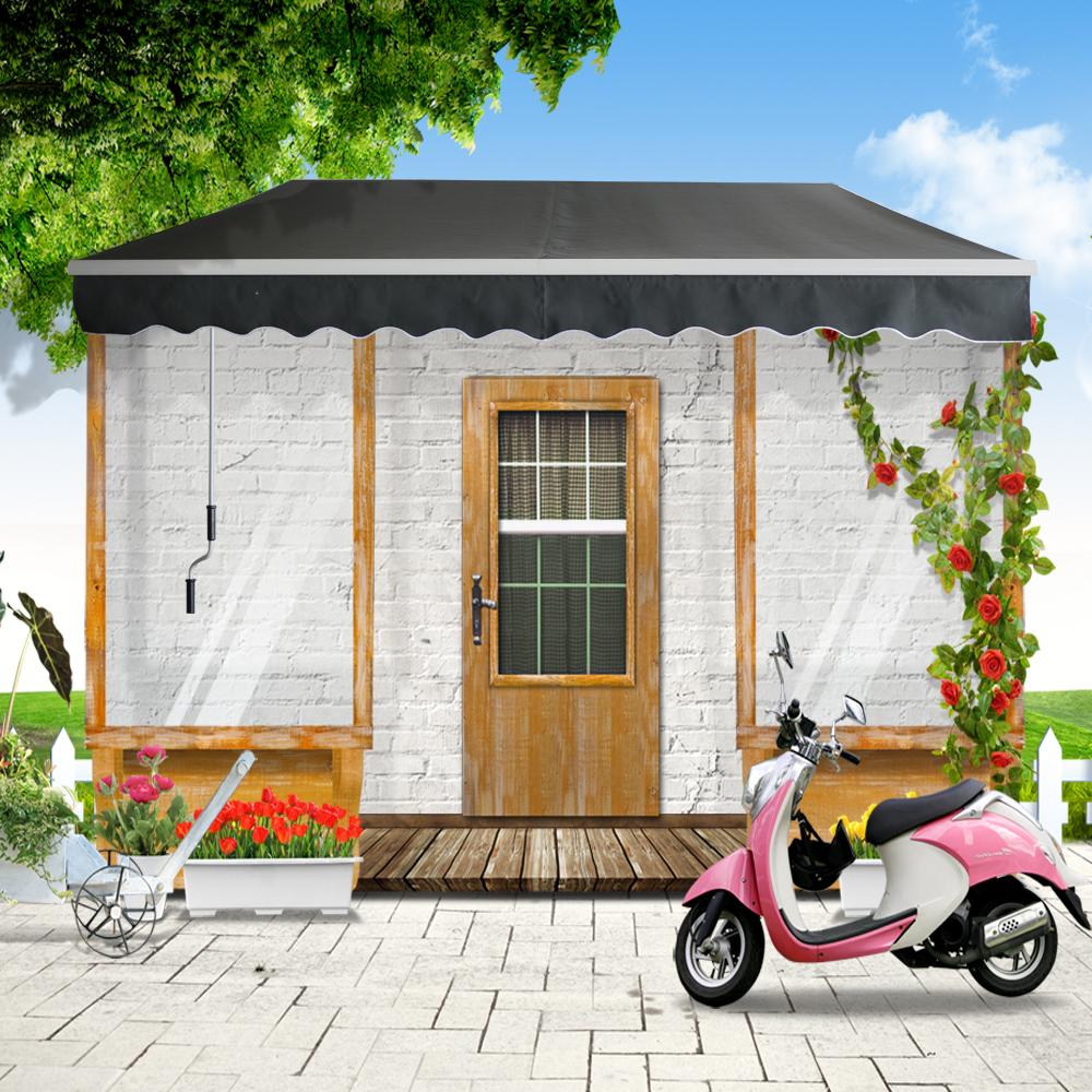 alu gelenkarm markise sonnenschutz sonnenmarkise balkonmarkise terrasse grau ebay. Black Bedroom Furniture Sets. Home Design Ideas