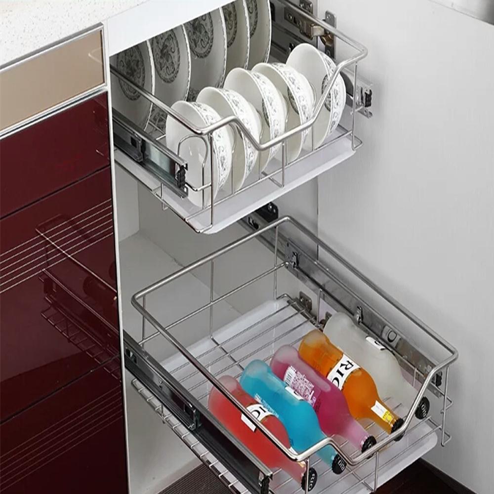 teleskop schublade k chenschublade k chenschrank korbauszug k chen schrankauszug ebay. Black Bedroom Furniture Sets. Home Design Ideas