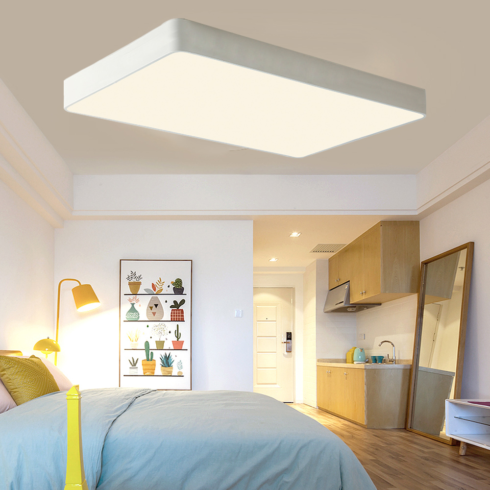 18w 48w dimmbar acryl led deckenlampe deckenleuchte wohnzimmer k chen lampe ebay. Black Bedroom Furniture Sets. Home Design Ideas