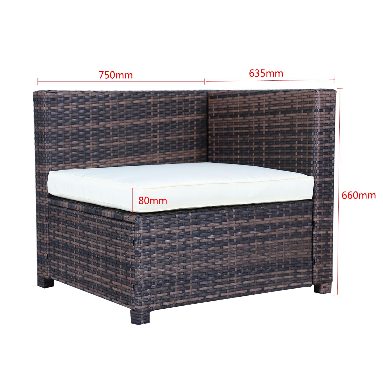 gartengarnitur poly rattan gartenm bel set braun lounge sitzgruppe essgruppe neu ebay. Black Bedroom Furniture Sets. Home Design Ideas