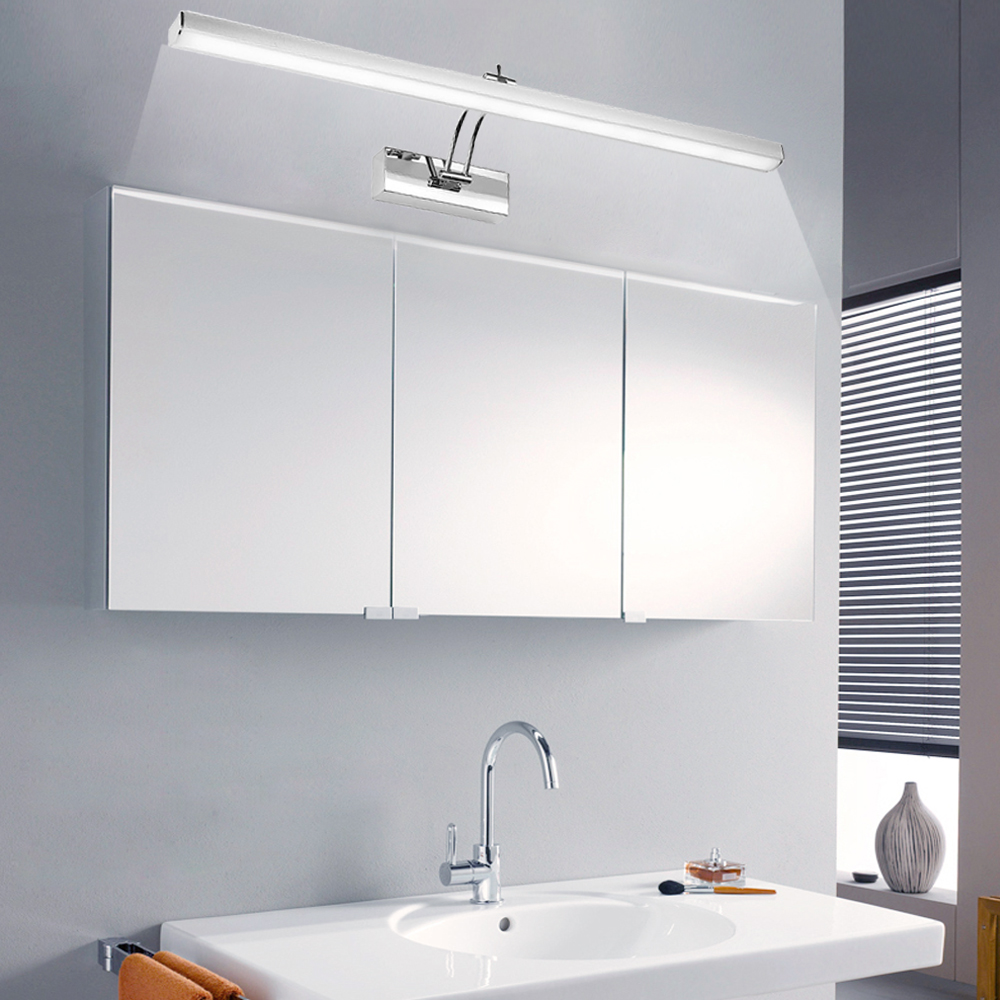 Edelstahl 7w led spiegellampe spiegelleuchte wandlampe badleuchte badezimmer neu ebay - Badezimmer wandlampe ...