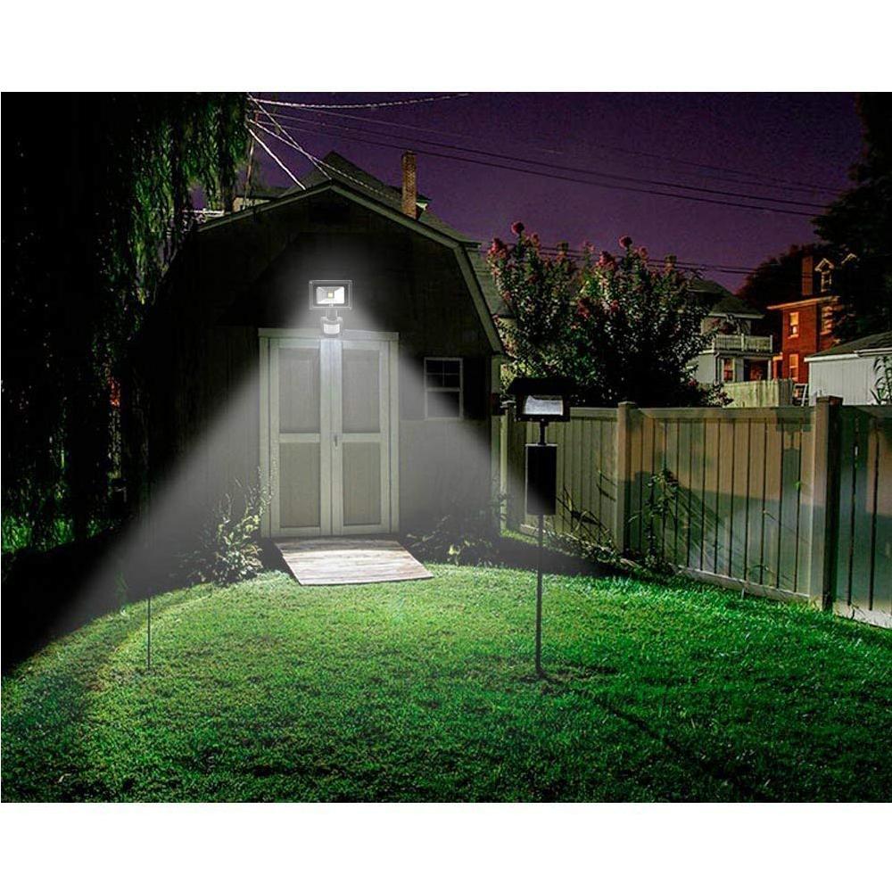schwarz 2x 20w led fluter flutlicht au en garten strahler mit bewegungsmelder de ebay. Black Bedroom Furniture Sets. Home Design Ideas