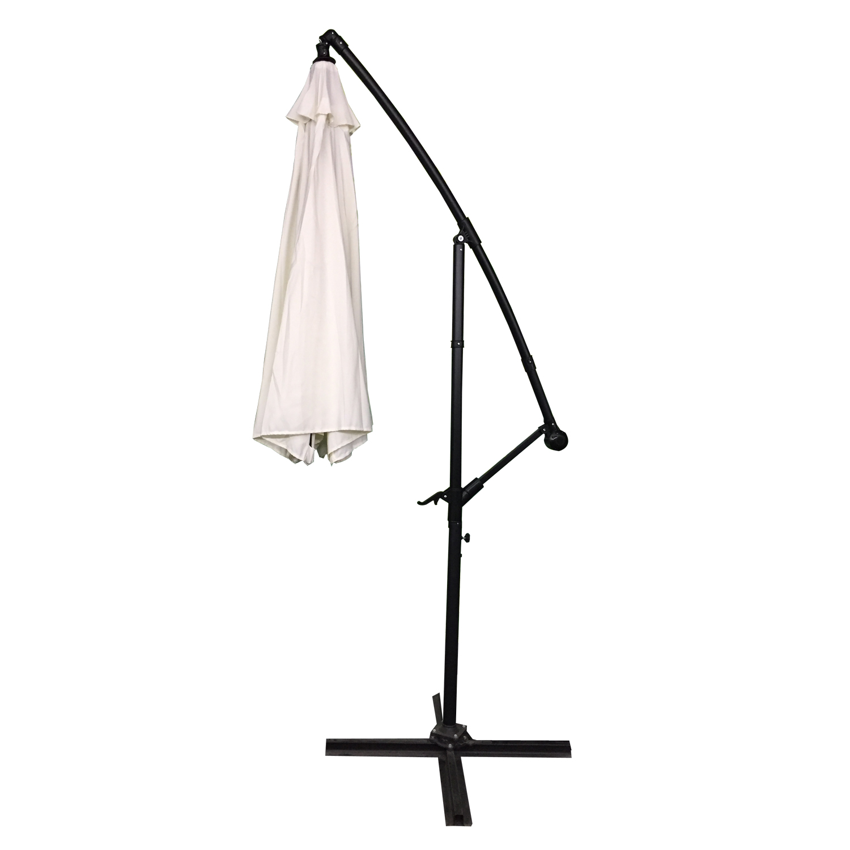 alu sonnenschirm 3 5m ampelschirm handkurbel beige marktschirm gartenschirm ebay. Black Bedroom Furniture Sets. Home Design Ideas