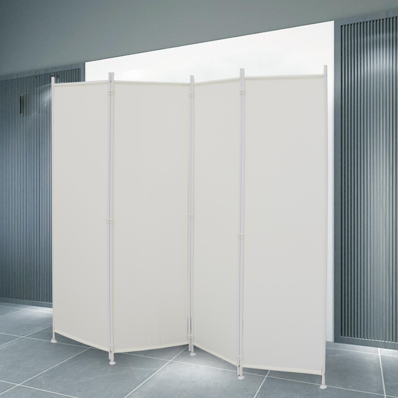 Paravent Sichtschutz Wand Spanische Beige Stellwand Raumteiler Trennwand 215cm