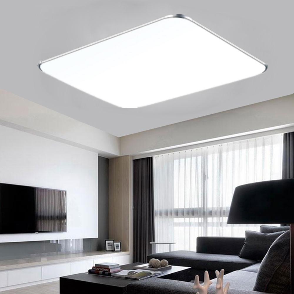 128w led deckenleuchte decken lampe wandlampe wohnzimmer dimmbar rgb k che ip44 ebay - Wandlampe wohnzimmer ...