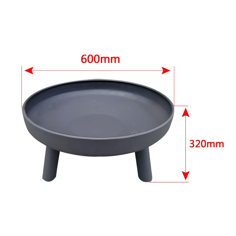 60 cm feuerschale feuerkorb grill gusseisen gartenfeuer terrassenofen partyfeuer ebay. Black Bedroom Furniture Sets. Home Design Ideas