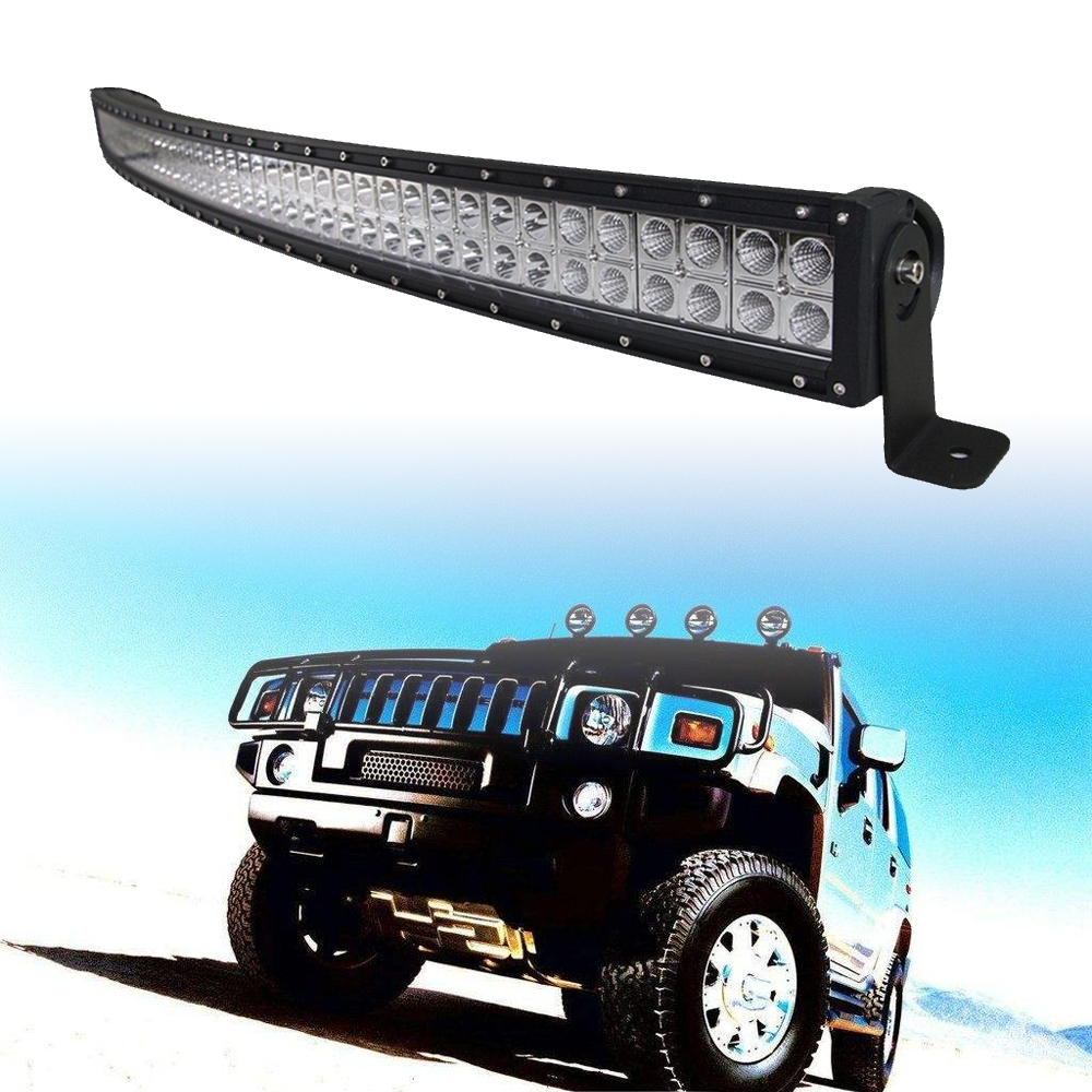 """50/""""inch 288W Two Row Curved LED Light Bar Spot Flood Combo Offroad Work Lamp UTE"""