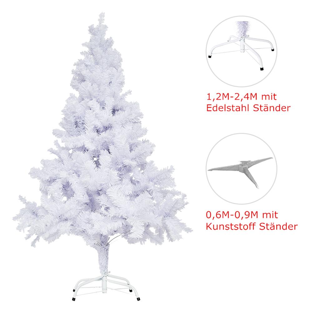 weihnachtsbaum k nstlicher tannenbaum 60 240cm wei deko. Black Bedroom Furniture Sets. Home Design Ideas