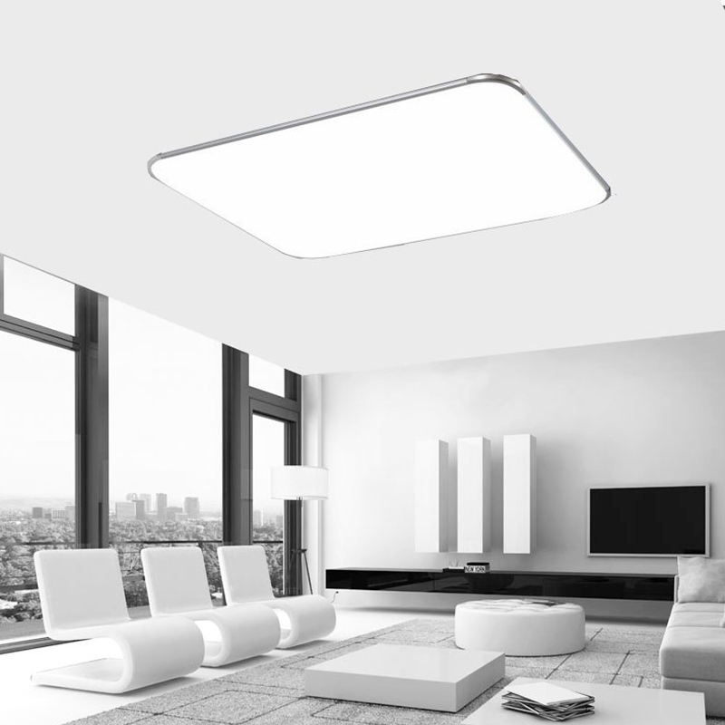 ultraslim led deckenleuchte panel lampe k che wohnzimmer wandlampe dimmbar licht ebay. Black Bedroom Furniture Sets. Home Design Ideas